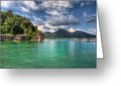 Rain Forest Greeting Cards - Pangkor Laut Greeting Card by Adrian Evans