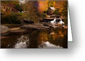 The Glade Greeting Cards - Panorama  Glade Creek Mill Greeting Card by Randall Branham