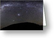 Starfield Greeting Cards - Panoramic View Of The Milky Way Greeting Card by Luis Argerich