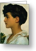 Frederic (1830-96) Painting Greeting Cards - Paolo Greeting Card by Frederic Leighton