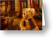 Web Gallery Greeting Cards - Papa Bear Greeting Card by David Alvarez