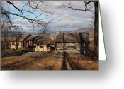 Log Cabin Photographs Greeting Cards - Papa Toms Cabin In The Woods Greeting Card by Robert Margetts