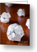 Recycling Photo Greeting Cards - Paper Balls Greeting Card by Carlos Caetano