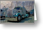 Truck Shows Greeting Cards - Paper Hauler Peterbilt Greeting Card by Randy Harris