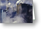 Pollute Greeting Cards - Paper Manufacturing Plant Near Charleston, South Carolina Greeting Card by Will & Deni McIntyre