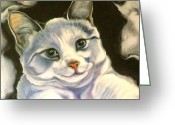 Kitten Greeting Card Greeting Cards - Paper Tiger Detail Greeting Card by Susan A Becker