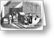 1833 Greeting Cards - Papermaking, 1833 Greeting Card by Granger
