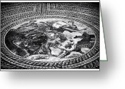 Ancient Prints Greeting Cards - Paphos Mosaic Greeting Card by John Rizzuto