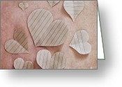 Heart-shape Greeting Cards - Papier Damour Greeting Card by Priska Wettstein