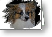 Pure Digital Art Greeting Cards - Papillon Greeting Card by Larry Linton