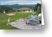 Scott Greeting Cards - Par 5 Greeting Card by Scott Listfield