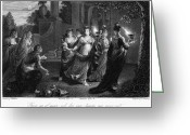 Schalcken Greeting Cards - Parable Of Virgins Greeting Card by Granger