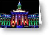 Telephoto Greeting Cards - Parade of Lights Origin Greeting Card by Kevin Munro