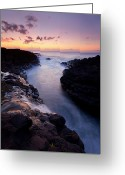Sea Greeting Cards - Paradise Falls Greeting Card by Mike  Dawson