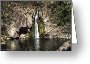 Reno Gregory Greeting Cards - Paradise Falls Greeting Card by Reno Gregory