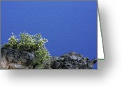 America Greeting Cards - Paradise for Backpackers - Crater Lake in Crater National Park - Oregon Greeting Card by Christine Till