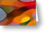 Modern Abstract Art Greeting Cards - Paradise Found Greeting Card by Amy Vangsgard