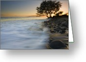 ; Maui Photo Greeting Cards - PAradise Gold Greeting Card by Mike  Dawson