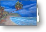 Beach Pastels Greeting Cards - Paradise In Puerto Rico Greeting Card by Arline Wagner