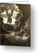 Archangel Greeting Cards - Paradise Lost No.12 of 39 Greeting Card by Miguel Rodriguez