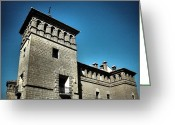 Blau Greeting Cards - Parador de Alcaniz - Spain Greeting Card by Juergen Weiss