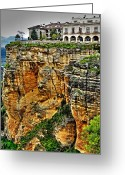Espana Greeting Cards - Parador Hotel Ronda - Andalusia Greeting Card by Juergen Weiss