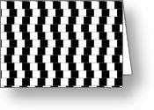 Black And White Abstract Greeting Cards - Parallel Lines Greeting Card by Michael Tompsett