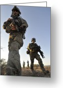 Bara Greeting Cards - Pararescuemen Arrive On Scene At A Mock Greeting Card by Stocktrek Images