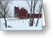 Barn Art Digital Art Greeting Cards - Parcell Barn Greeting Card by Cynthia Prado