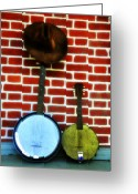 Banjo Greeting Cards - Pardners Greeting Card by Bill Cannon