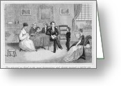 Grandson Greeting Cards - Parents And Children, 1810 Greeting Card by Granger