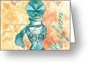 Bathe Greeting Cards - Parfum Greeting Card by Debbie DeWitt