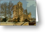 Dam Greeting Cards - Paris 03 Greeting Card by Yuriy  Shevchuk