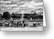 Bw Pyrography Greeting Cards - Paris  Greeting Card by Antonietta Pics