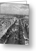 Champs Elysees Greeting Cards - Paris: Champs Elysees Greeting Card by Granger