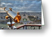 Telescope Greeting Cards - Paris Cityscape Greeting Card by Romain Villa Photographe
