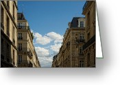 Old Street Photo Greeting Cards - Paris Clouds Greeting Card by Philip Sweeck