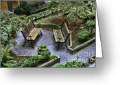Chuck Kuhn Photography Greeting Cards - Paris Courtyard II Greeting Card by Chuck Kuhn