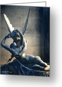 Eros And Psyche Greeting Cards - Paris Eros and Psyche - Louvre Museum Greeting Card by Kathy Fornal