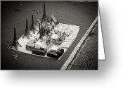 Street Vendor Greeting Cards - Paris for Sale Greeting Card by Edward Myers
