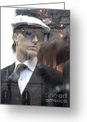High Fashion Greeting Cards - Paris High Fashion Male Mannequin Art  Greeting Card by Kathy Fornal