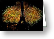 Paris Pastels Greeting Cards - Paris in July Greeting Card by D Rogale