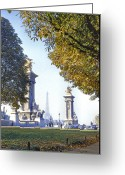 Kodachrome Greeting Cards - Paris in the Fall 1954 Greeting Card by Chuck Staley