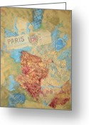 Imported Greeting Cards - Paris Greeting Card by Julie Seldes Awaken the Spirit