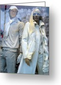 High Fashion Greeting Cards - Paris Mannequins High Fashion Art Deco Greeting Card by Kathy Fornal