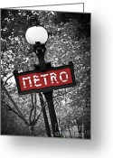 Architecture Greeting Cards - Paris metro Greeting Card by Elena Elisseeva