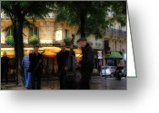 Street Musicians Greeting Cards - Paris Musicians Greeting Card by Andrew Fare