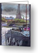 Paris Pastels Greeting Cards - Paris Pont Alexandre III Greeting Card by Yuriy  Shevchuk