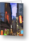 Digital Pfoto Digital Art Greeting Cards - Paris Quartier Latin 01  Greeting Card by Yuriy  Shevchuk