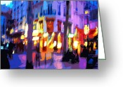 Digital Pfoto Digital Art Greeting Cards - Paris Quartier Latin 02 Greeting Card by Yuriy  Shevchuk
